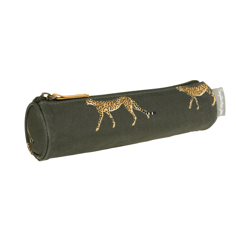 Cheetah Small Oilcloth Pencil Case