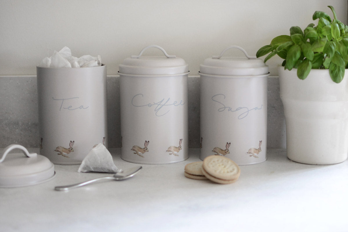 Hare Tea Storage Tin