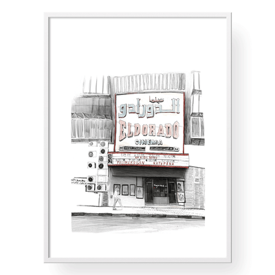 Vintage City Art | Cinema Eldorado Art Print | Yislamoo