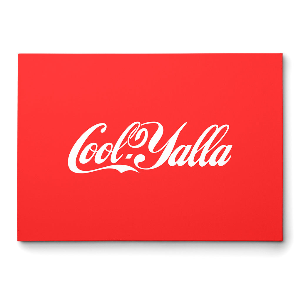 Cola Vintage Poster, Red Posters, Calligraphy Wall Art,Yislamoo