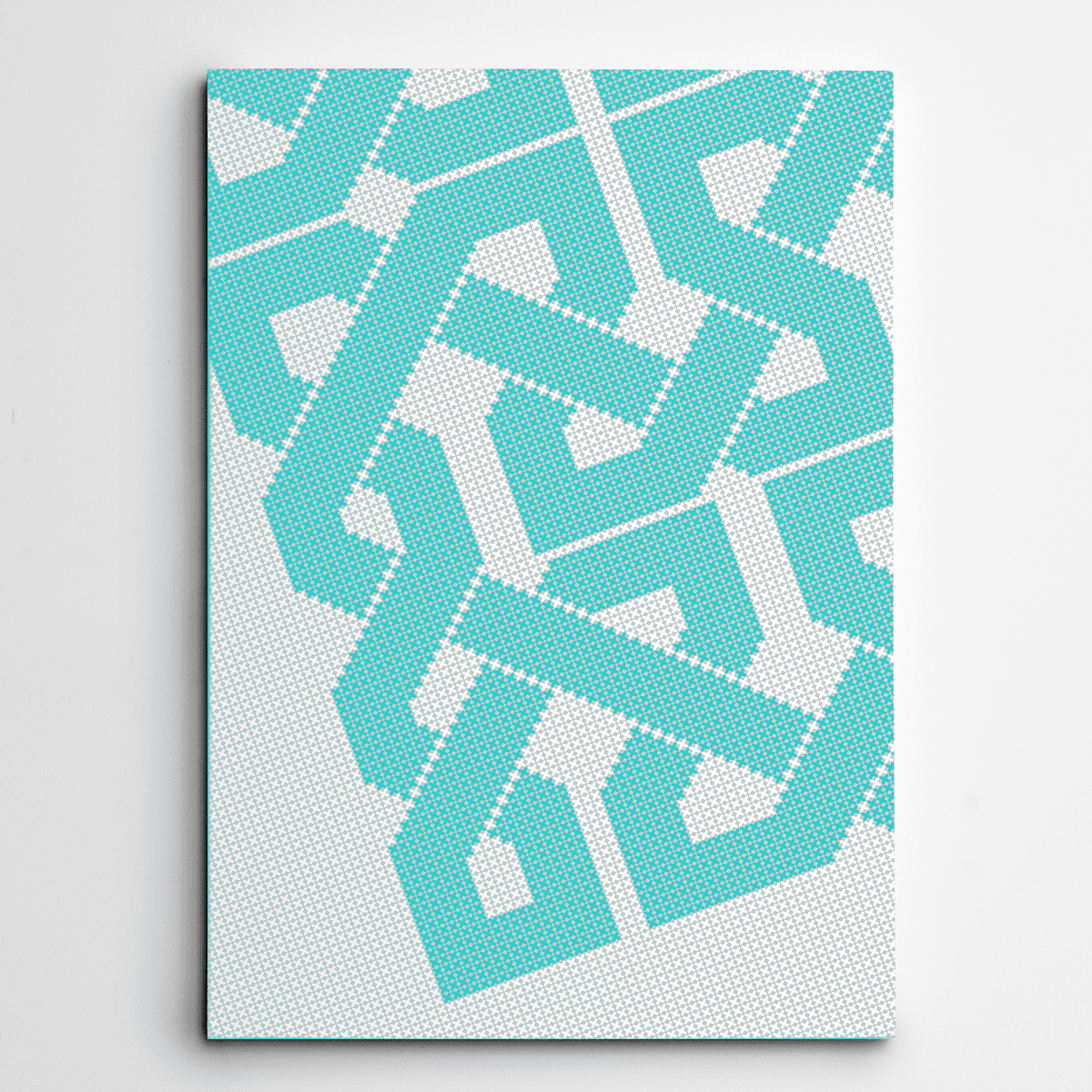 Azure Canvas Art,canvas wall prints,Grid Pattern,Yislamoo,Blue
