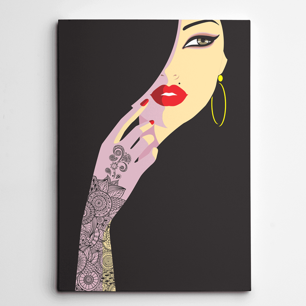 Canvas art for Bedroom,Canvas Prints,Canvas Wall Art,Yislamoo,Henna