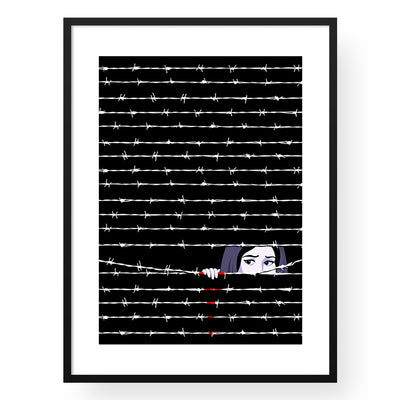 Hide & Seek in Gaza Art Print - Yislamoo
