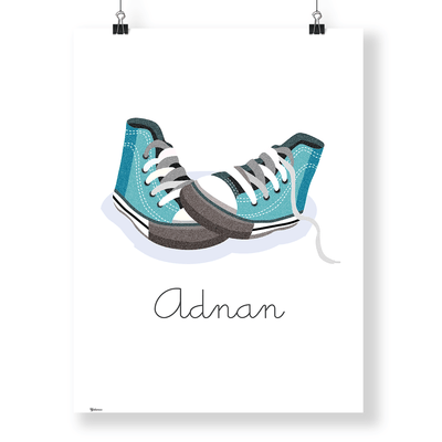 Baby Gifts Dubai | Customized Converse Wall Art Print | Yislamoo