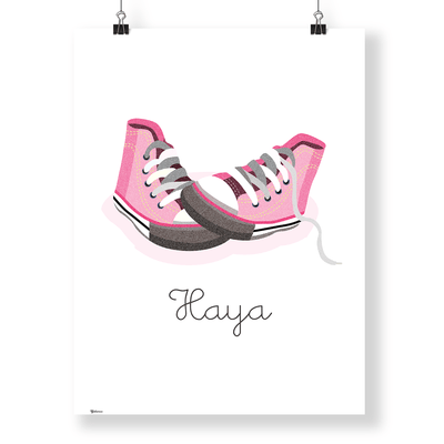 Nursery Wall Frames | Customized Converse Wall Art Print | Yislamoo