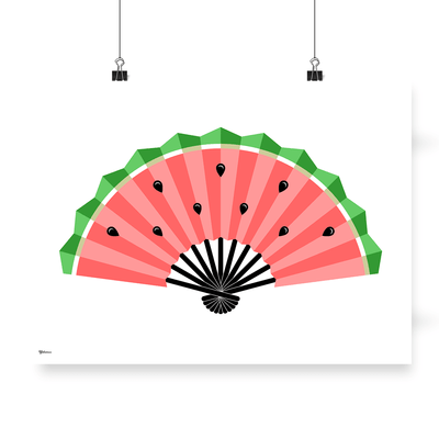 Watermelon Poster,Yislamoo,Kitchen Posters,Wall Art