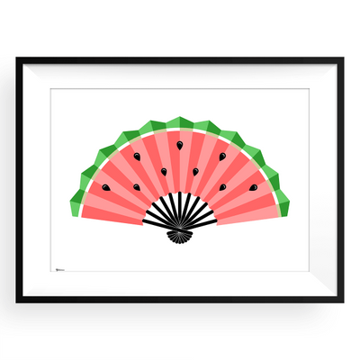 Watermelon Fan,Kitchen Wall Art,Art print,Yislamoo