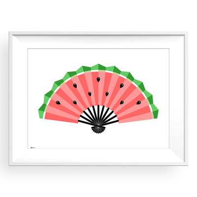 Watermelon Framed Print,Watermelon Art,Picture with Watermelon,Yislamoo