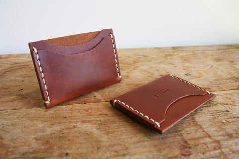 Standard Card Holder (Hand Waxed Red Lantern)