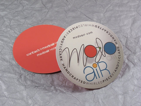 "Full Color 14pt 3"" Round Circle UV Gloss Die Cut Business Cards"