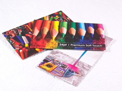 "Full Color 24pt Thick 3.5x2"" Soft Touch Premium Business Cards"