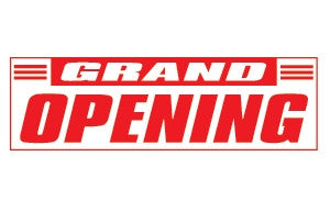Grand Opening 3x10 Foot Banner