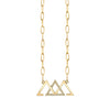 Gold and Diamond Past Present Future Necklace