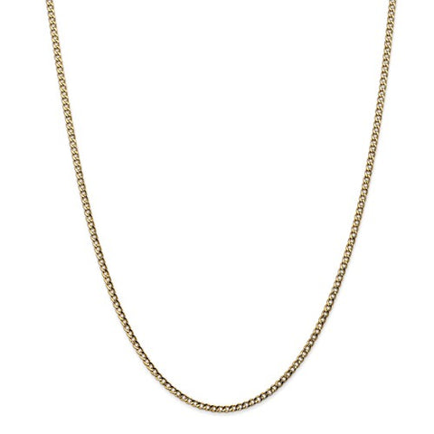 Gold Curb Chain - 2.5mm