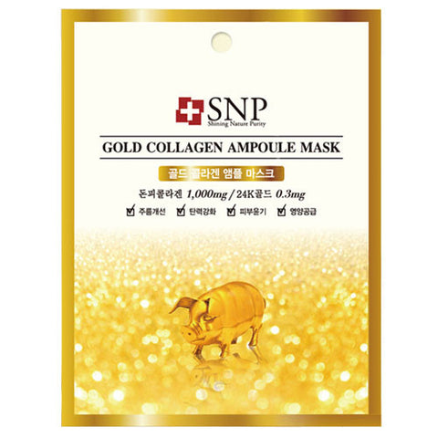 SNP Gold Collagen Ampoule Mask (1ea)