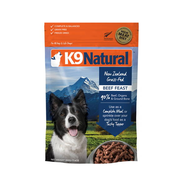Beef Feast Freeze Dried Dog Food Weight : 500g