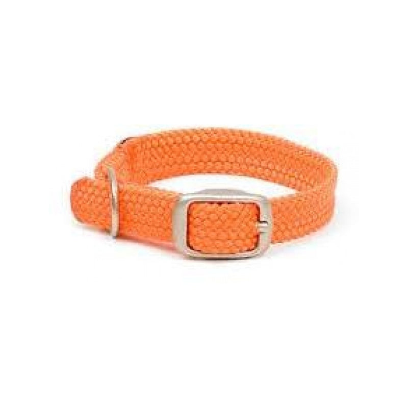 Double Braid Collar Colour : Orange, Size : 14in