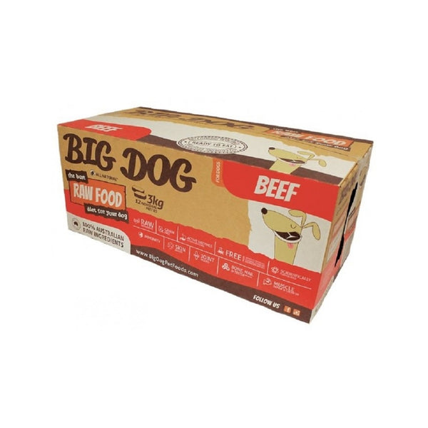 Standard Range for Dogs -  Beef Raw Frozen Weight : 12x250g