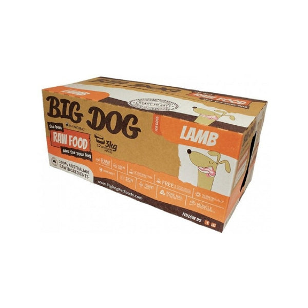 Standard Range for Dogs - Lamb Raw Frozen Weight : 12x250g