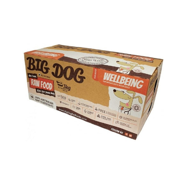 Wellbeing Raw Frozen for Dogs Weight :12x250g