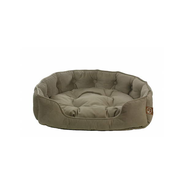 Faux Suede Snuggle Bed Size : Small, Colour : Grey