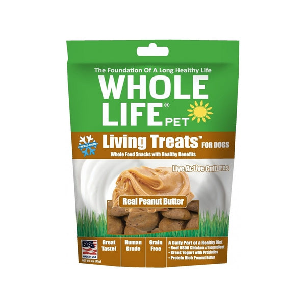 Living Treats Real Peanut Butter Weight : 3oz