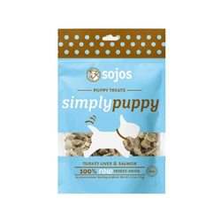 Turkey Liver & Salmon Puppy Treats Weight : 2.5oz