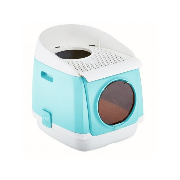 Free Cabin Litter Box Color : Cyan (light blue)