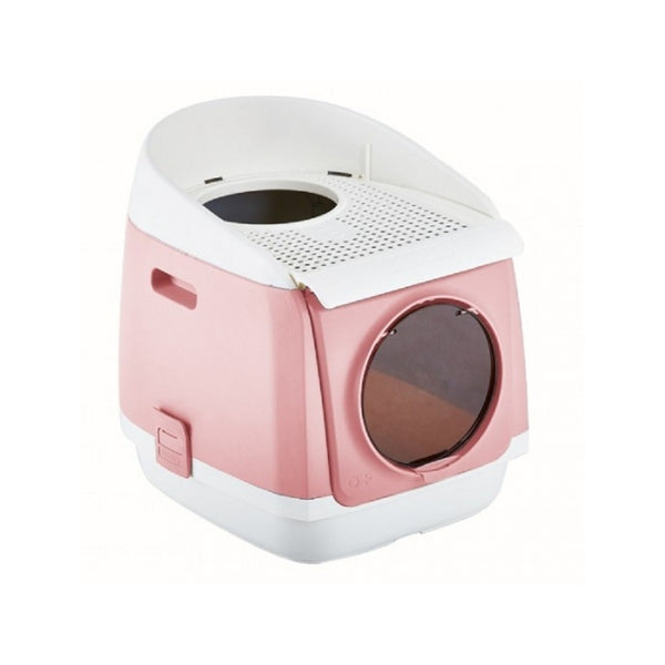 Free Cabin Litter Box Color : Pink