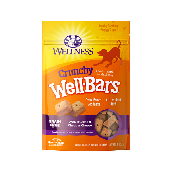 WellBars Chicken & Cheddar Cheese Size : 8oz