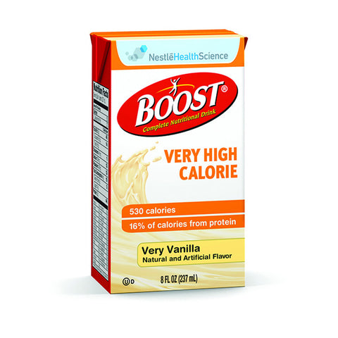 Nestle Boost Very High Calorie Complete Drink, Vanilla Flavor (Case of 27)