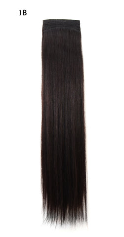 Weft Human Hair Extensions: Color #1B Off Black