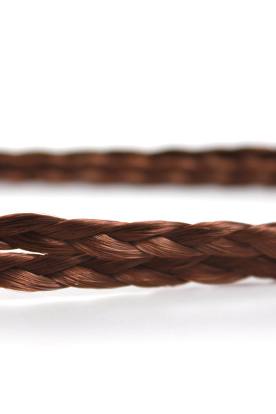 Double Braid Band: Reddish Brown - Celebrity Strands  - 3