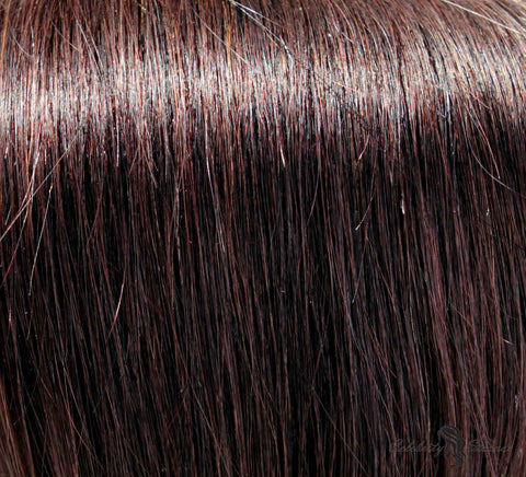 "16"" Clip In Remy Hair Extensions: Darkest Brown No. 2 - Celebrity Strands  - 1"