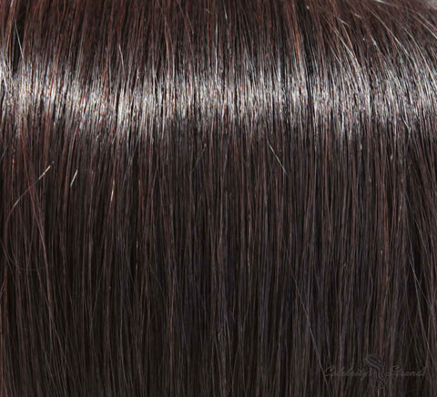 "16"" Clip In Remy Hair Extensions: Off Black No. 1B - Celebrity Strands  - 1"