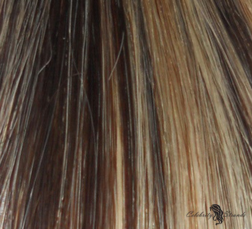 "16"" Clip In Remy Hair Extensions: Dark Brown/ Monroe Blonde No. P4-613 - Celebrity Strands  - 1"