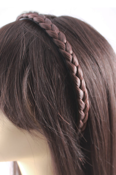 Braided Headband: Light Brown - Celebrity Strands  - 3