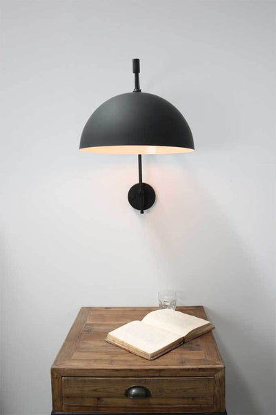 Dome Wing Arm Wall Lamp