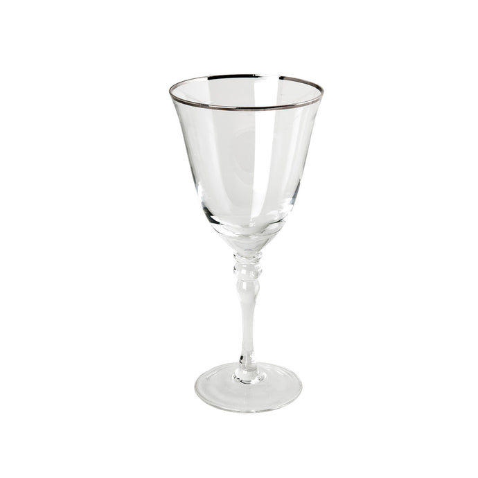 Silver Band Red Wine Glass IEP