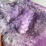 Curly Kid Mohair - Hand Dyed Mottled Lilac - Fat 1/4m - JUN011