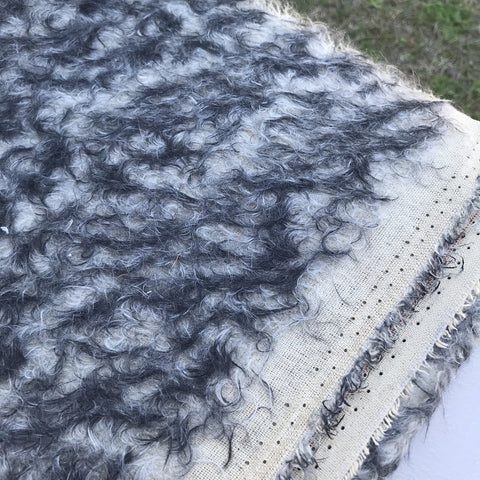Smoked Pearl - curly tipped ratinee mohair