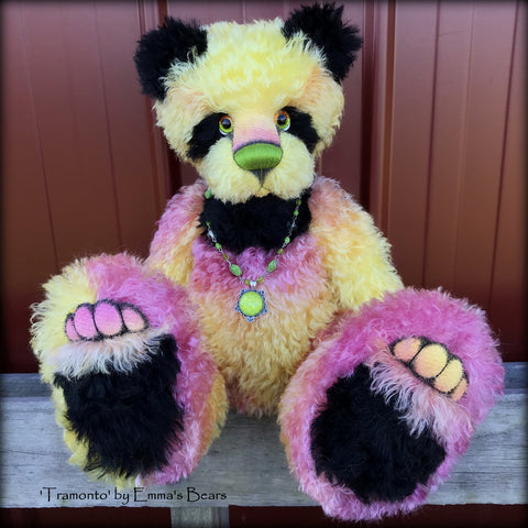 Tramonto - 19in hand dyed mohair Artist Bear by Emmas Bears - OOAK