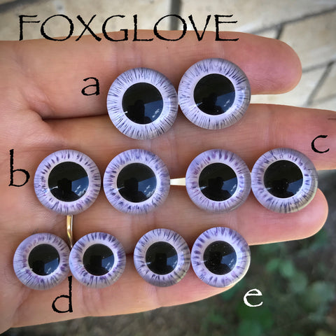 Hand Painted Eyes - Foxglove