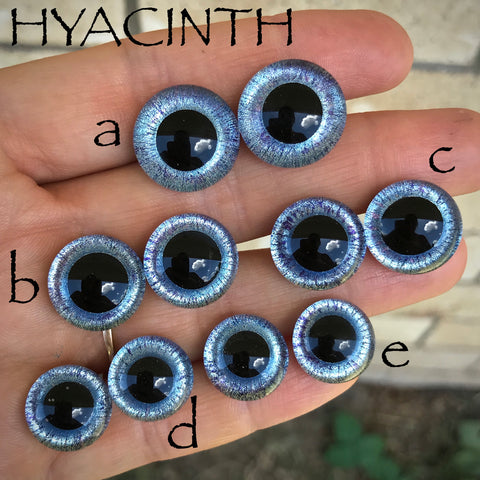 Hand Painted Eyes - Hyacinth