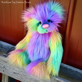 "KITS - 13"" Rainbow faux fur bear"