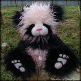 "KITS - 16"" Madeline faux fur pink and black panda bear"