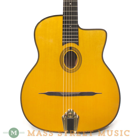 Gitane DG-255 Petite Bouche Gypsy Jazz Guitar - front close