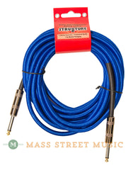 Strukture SC186BL 18.6 foot Instrument Cable, Woven Blue - front