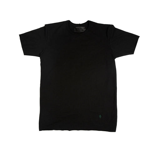 Black / Green Benchmark Tee