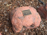 Memorial Rock Urn 770  Small-Single. Outback Red Series SSRED